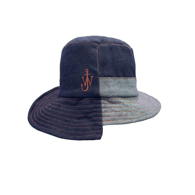 JW Anderson Asymmetric Bucket Hat - Blue