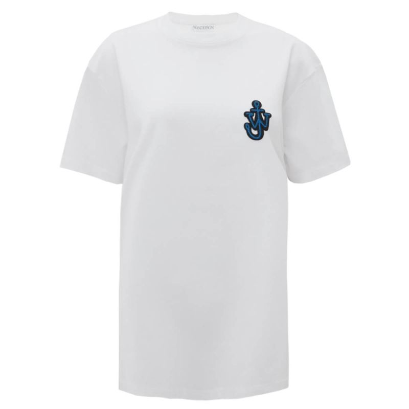 JW Anderson T-Shirt Anchor Patch - White