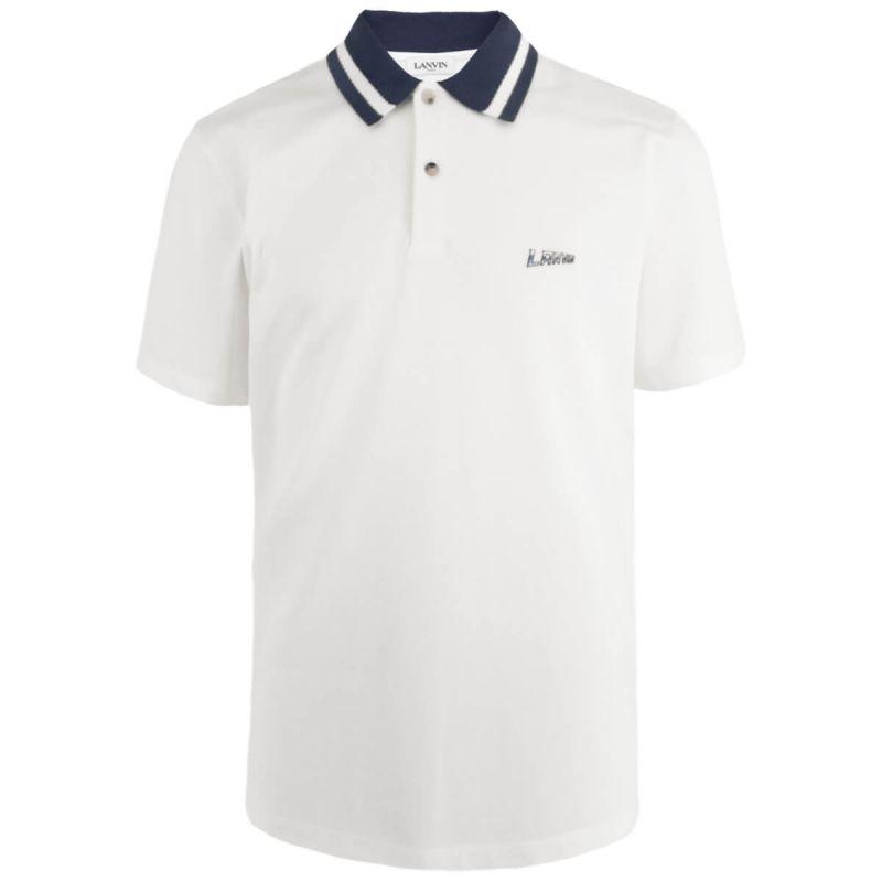 Lanvin Polo Contrasted Collar - White