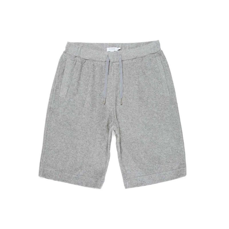 Sunspel Shorts Towelling - Grey Melange